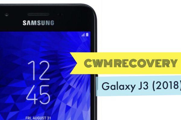 Install CWM Recovery on Galaxy J3 2018