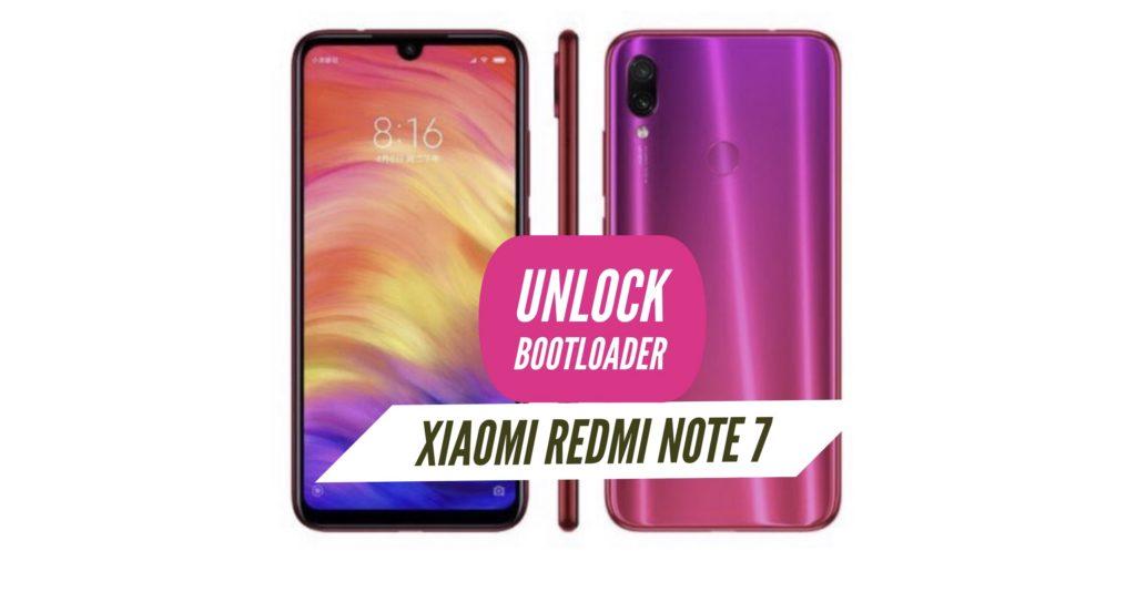 Unlock Bootloader Xiaomi Redmi Note 7