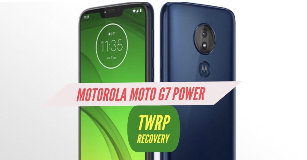 TWRP Motorola Moto g7 Power