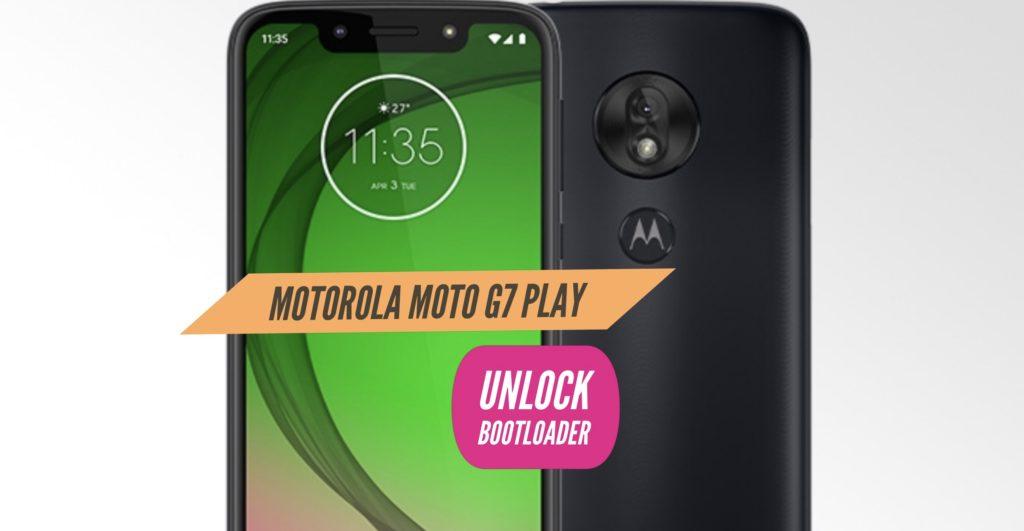 Unlock Bootloader Motorola Moto G7 Play