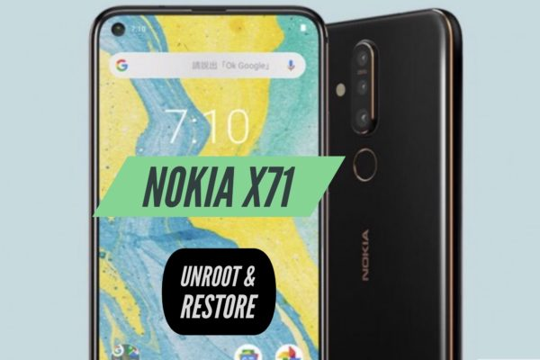 Unroot Nokia X71 Restore Stock ROM