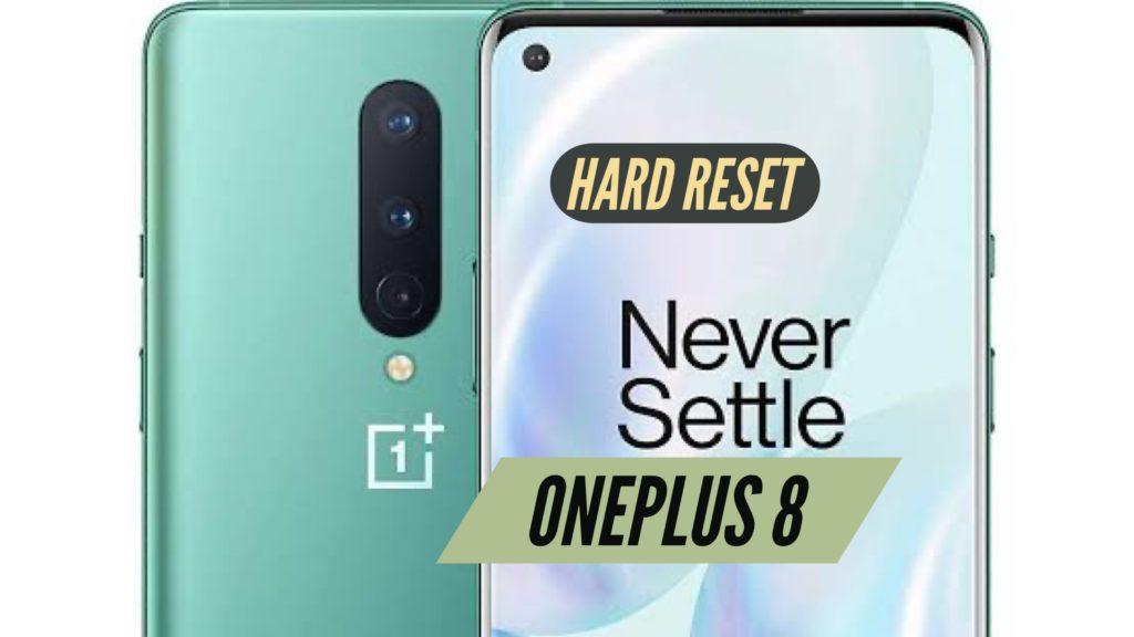 OnePLus 8 Hard Reset