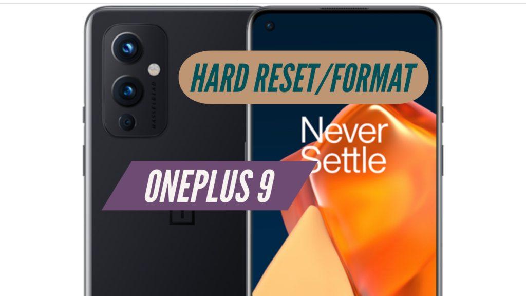 OnePlus 9 Hard Reset Format
