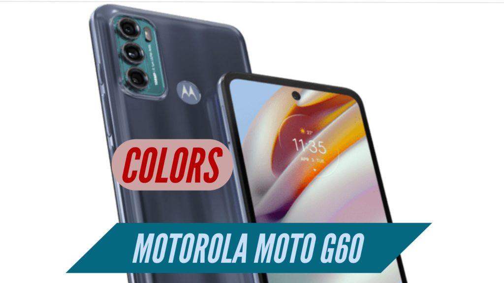 Motorola Moto G60 Colors
